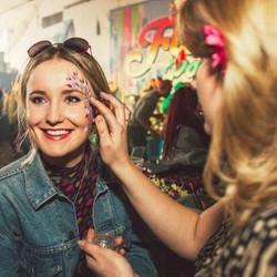 Festival adult face paint