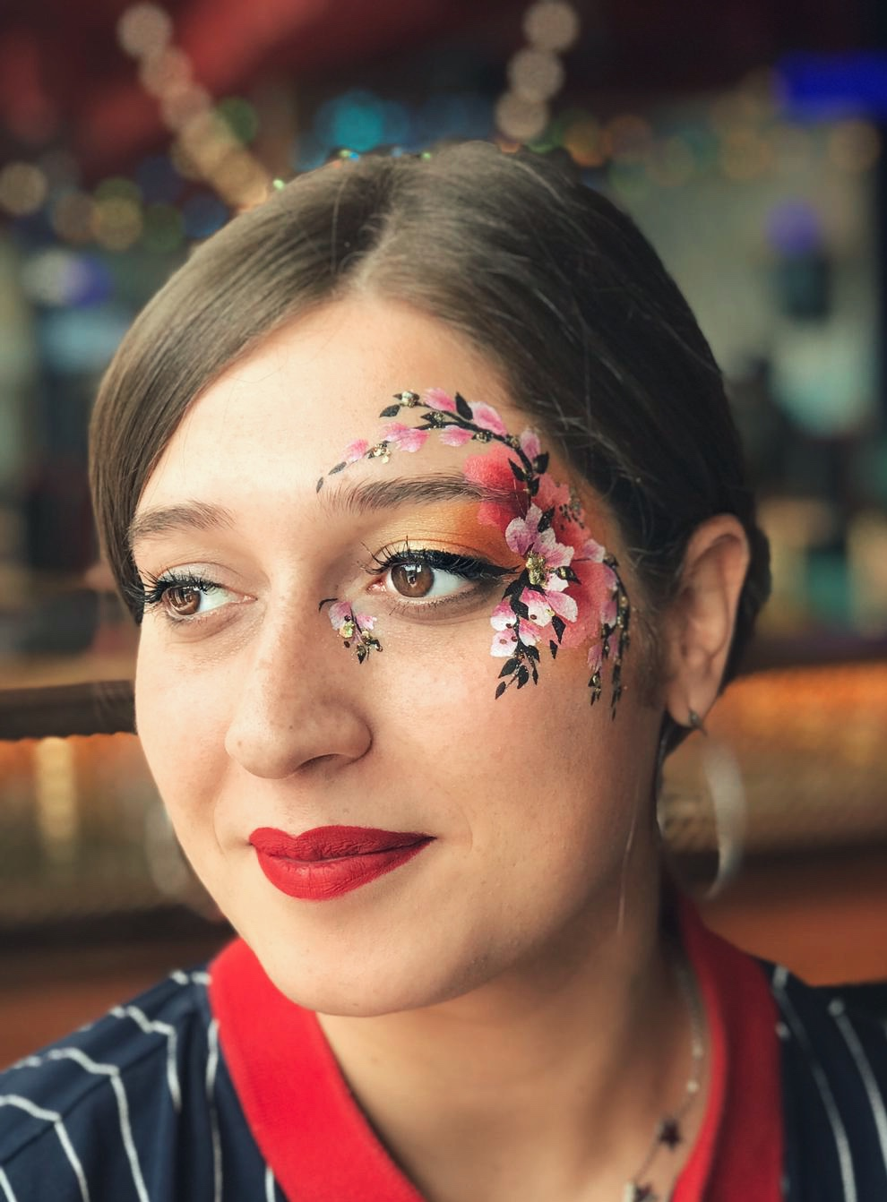 Adult festival face paint