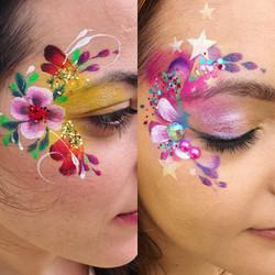 Beautiful adult face paint