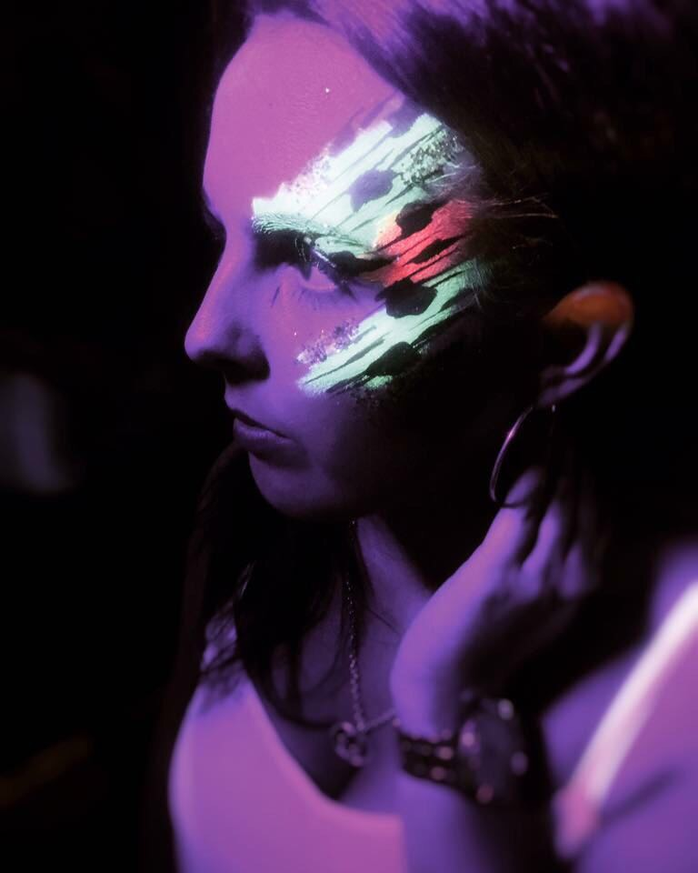 Neon UV Face Paint