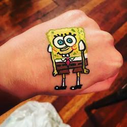 Spongebob face paint