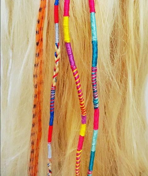 Rainbow hair wraps