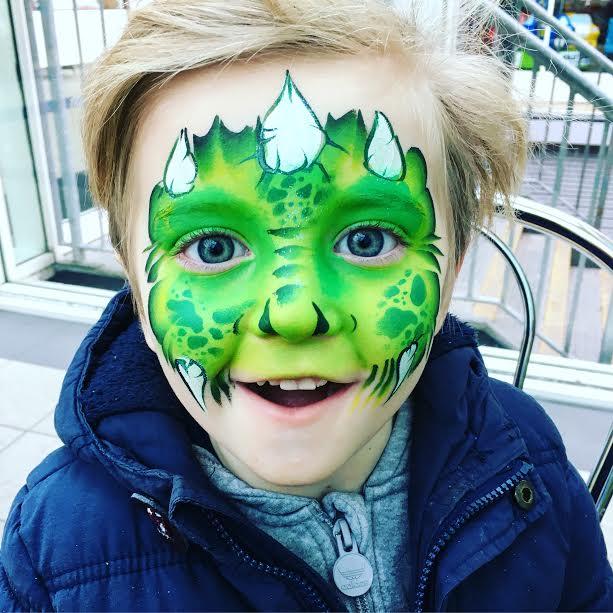 Dinosaur face paint