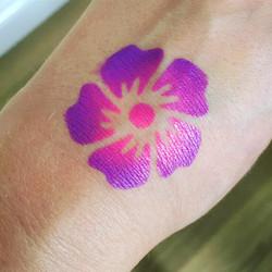 Flower stencil hand art