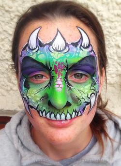 Adult dinosaur face paint