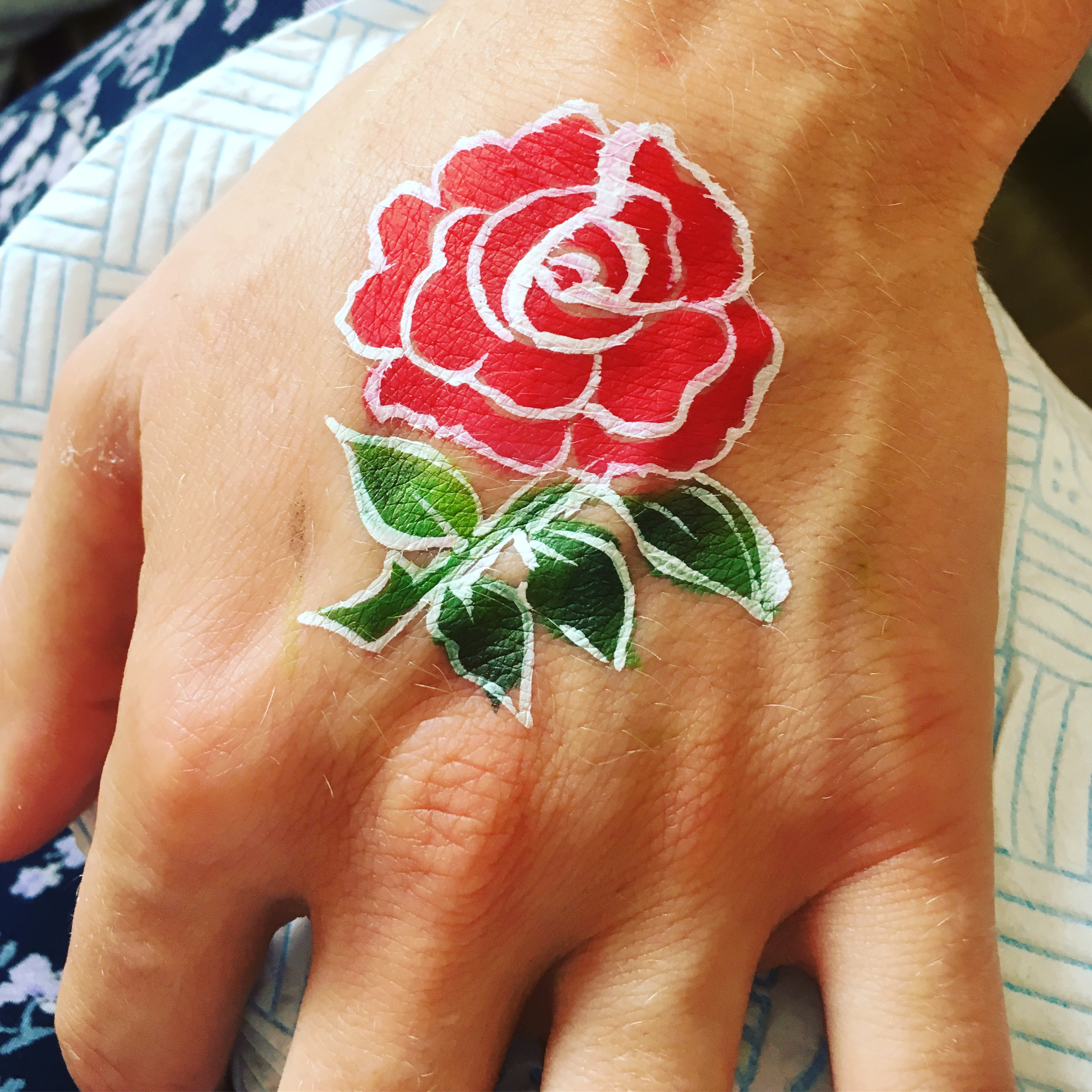 English rose face paint