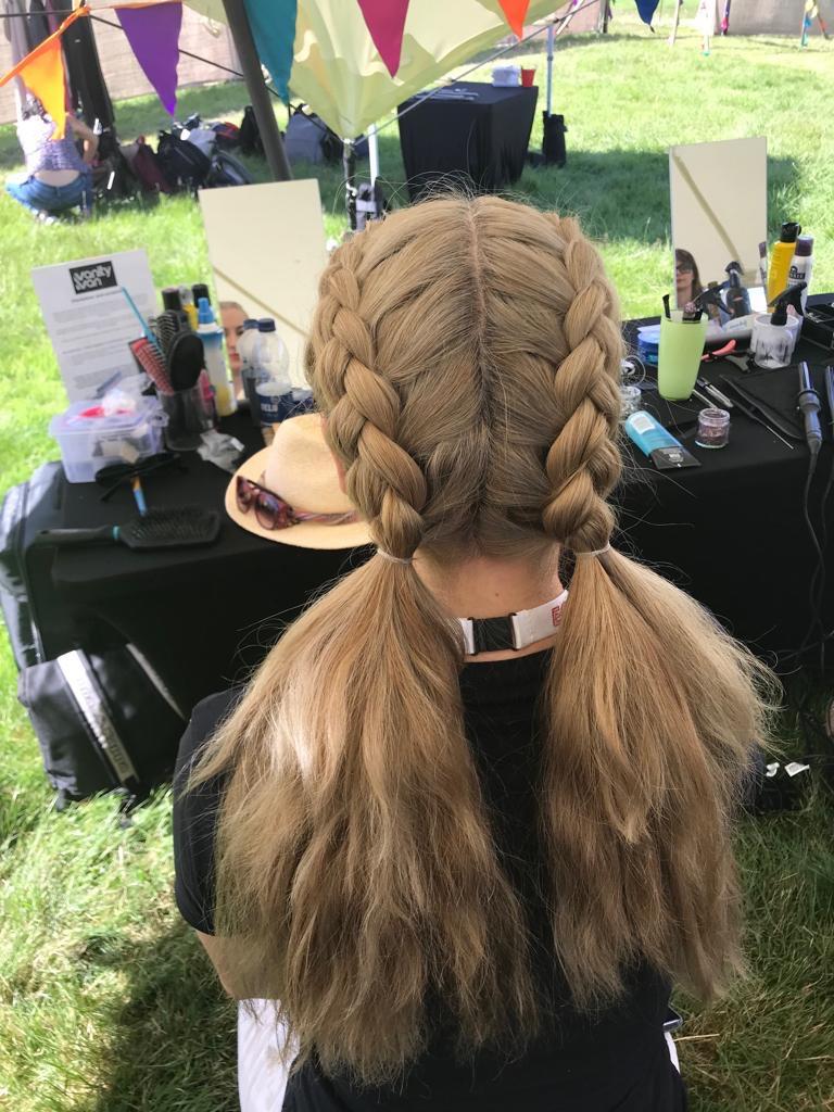 Children's hair braiding