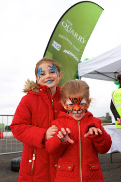 Tiger and Flower face paints