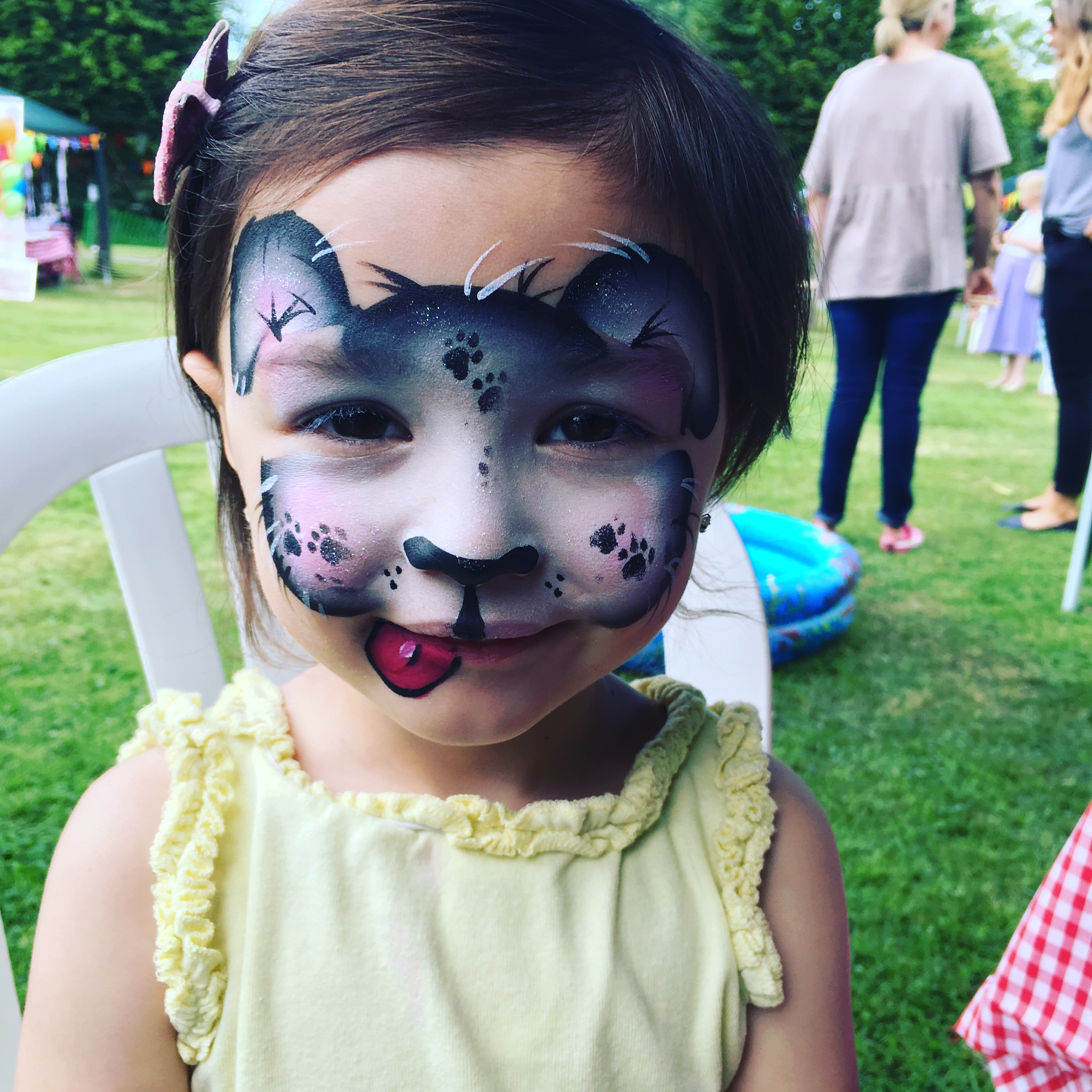 Children's puppy face paint