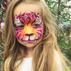Sunset fantasy tiger