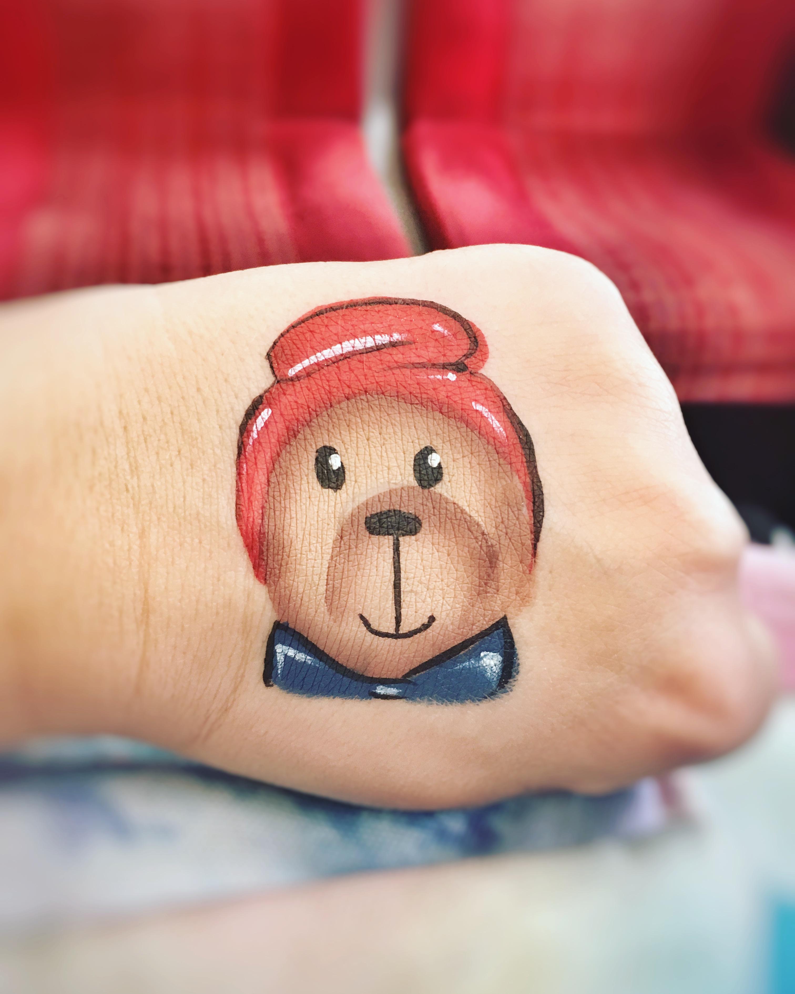 Paddington bear face paint