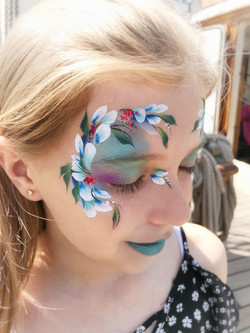 Beautiful flower face paint