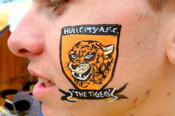 Hull City face paint badge