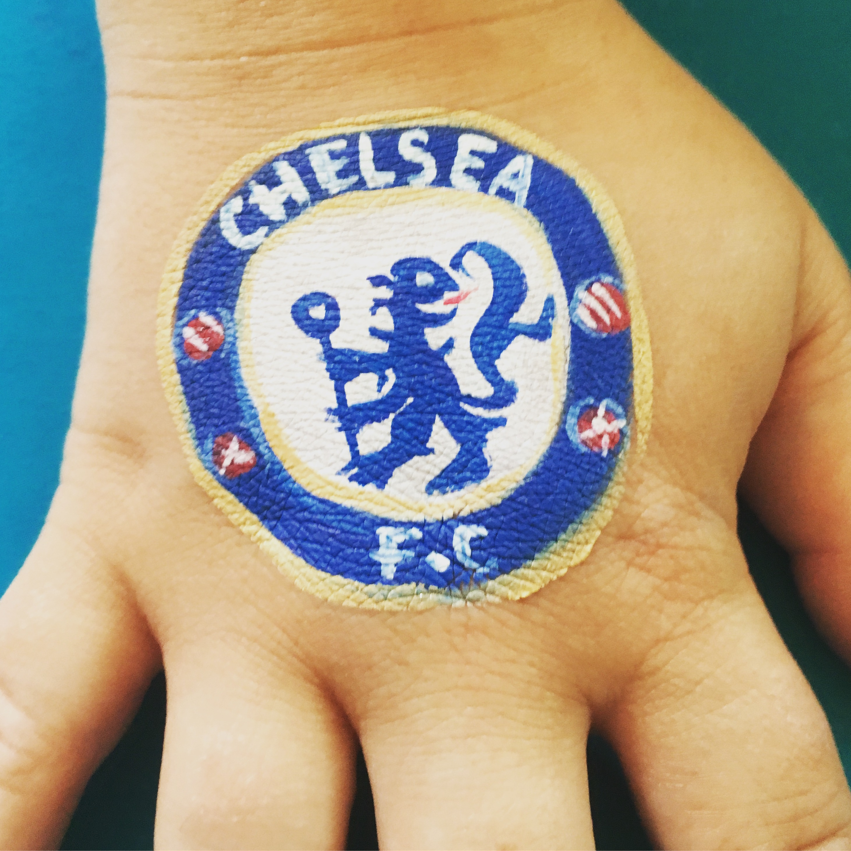 Chelsea football badge paint