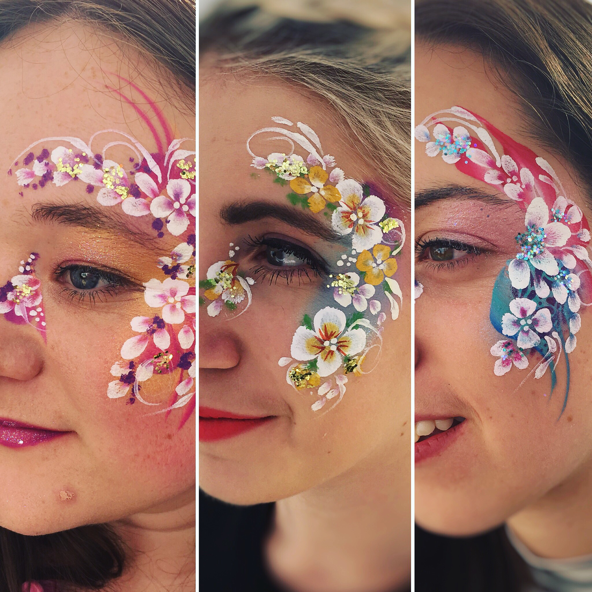 Beautiful festival face paint