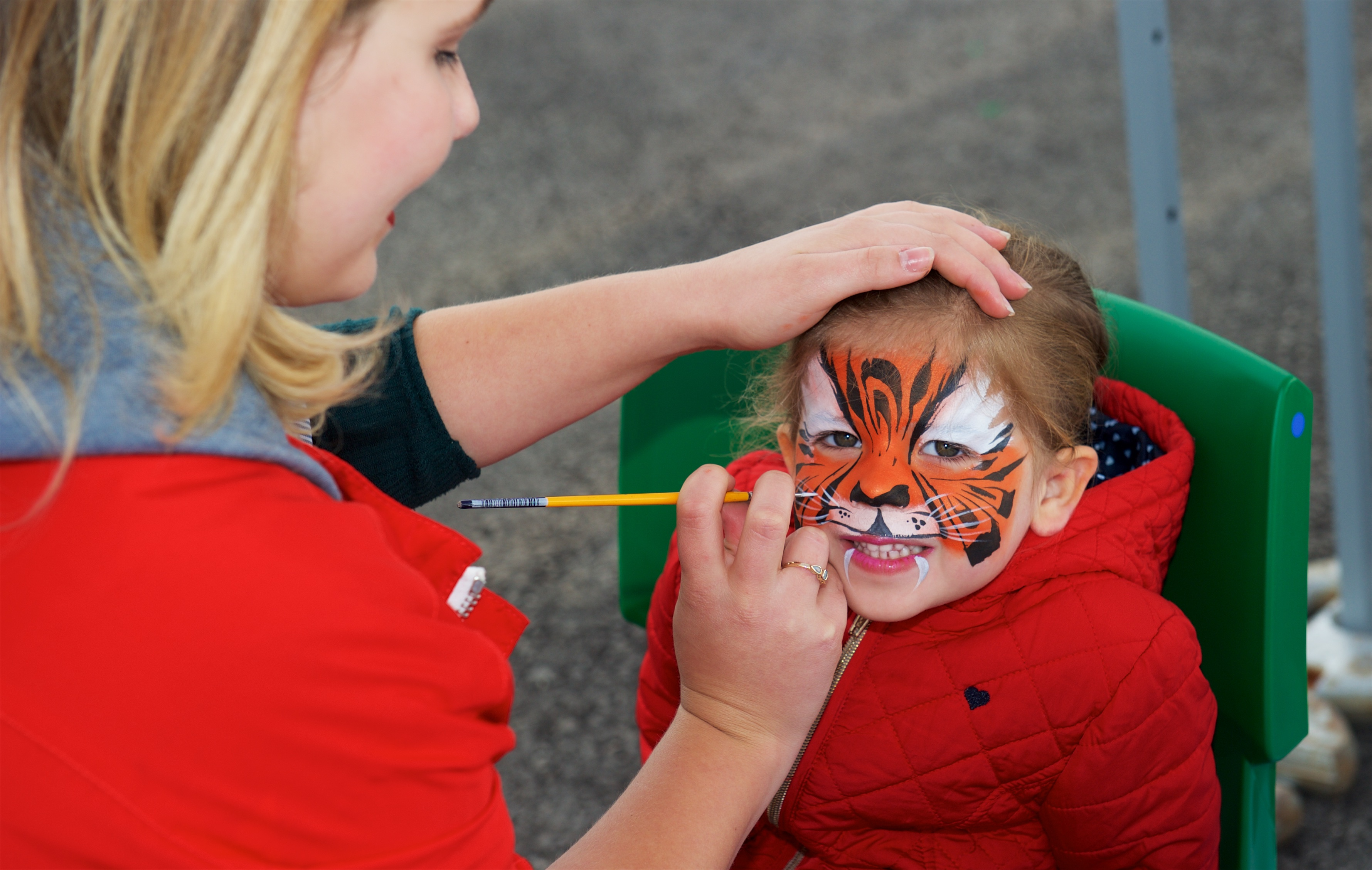 Amazing tiger face paint