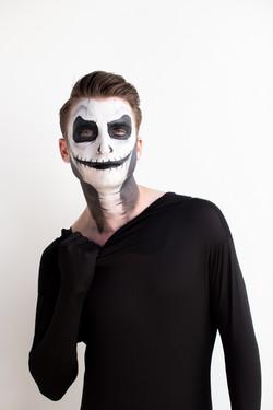 Comic Con skeleton face paint