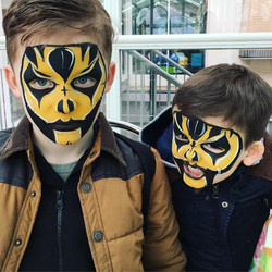 Scary Wrestler face paint