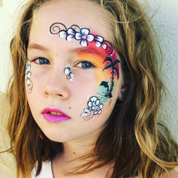 Tropical face art
