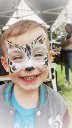 Cute zebra face paint