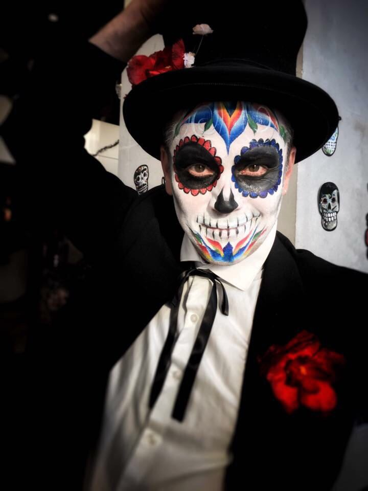Sugar Skull adult face paint