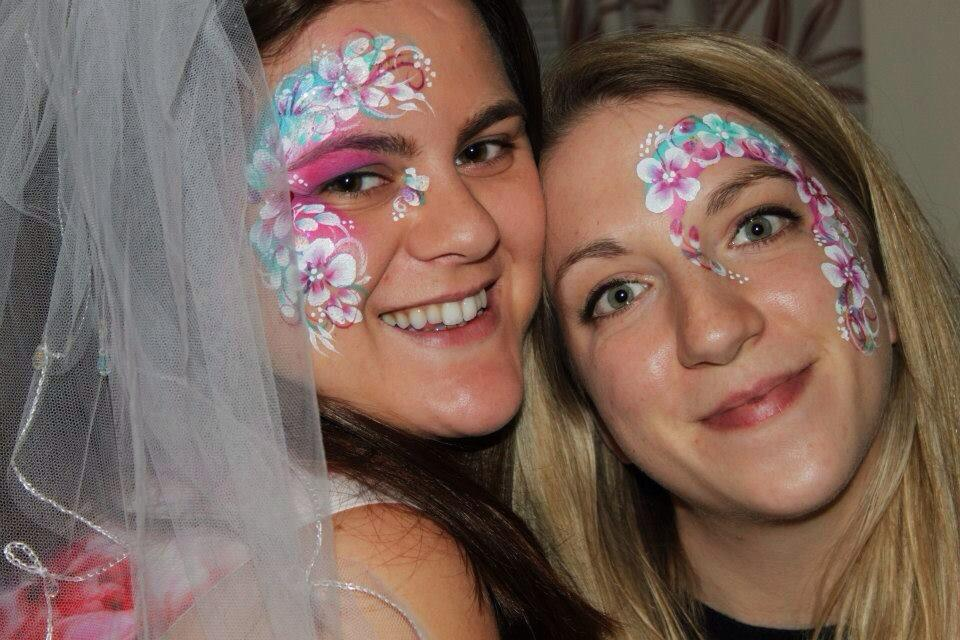 Beautiful hen do face paint