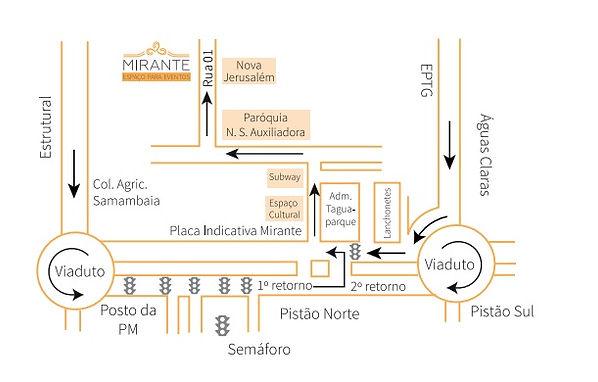 mapa para o mirante eventos