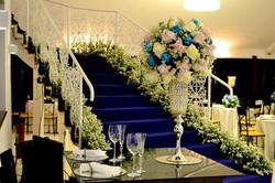 decor casamento rosa branco azul