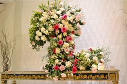 decoração branco e rosa