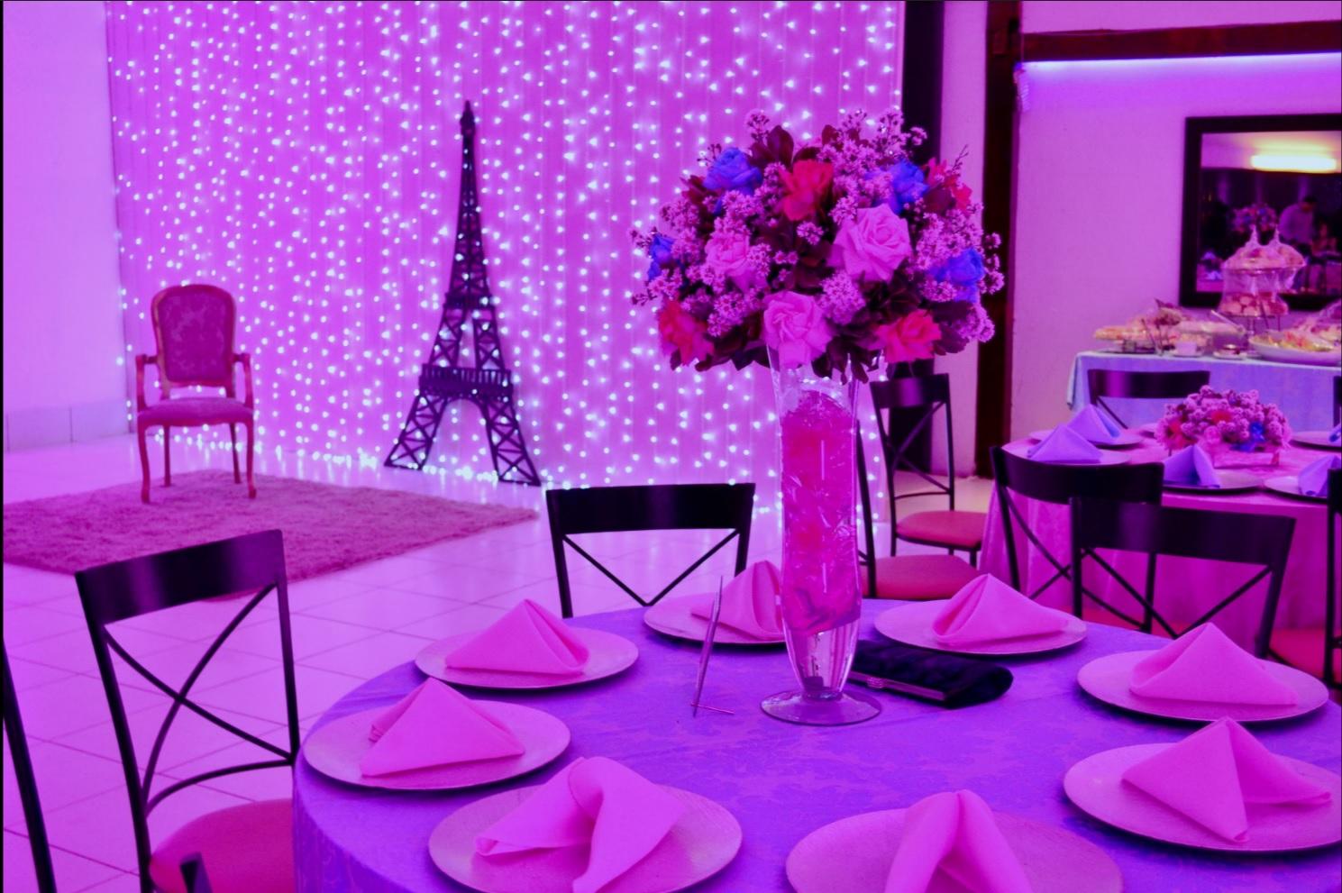 decoração 15 anos paris