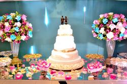 decor casamento rosa lilas azul