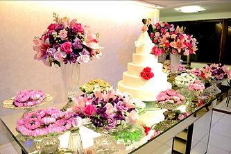 Mesa do bolo para casamentos