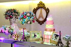 decoração azul tifanny e rosa