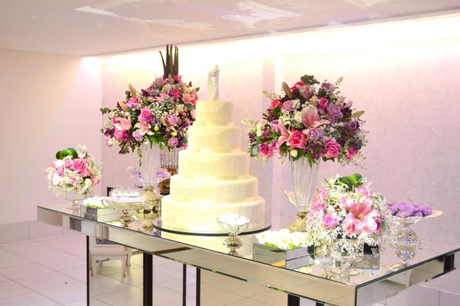 decor casamento lilas e rosa