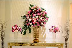 decoração lilas rosa e roxo