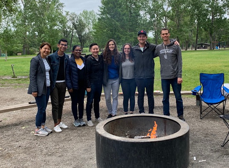 Farewell BBQ for Raphael at Bowness Park