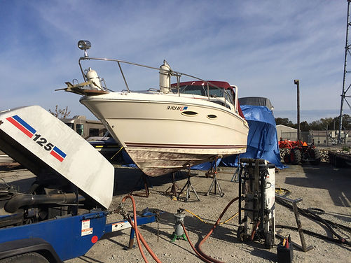 Boat bottom repair