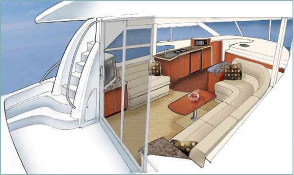 Interior boat design for Ellen brotman interior designs
