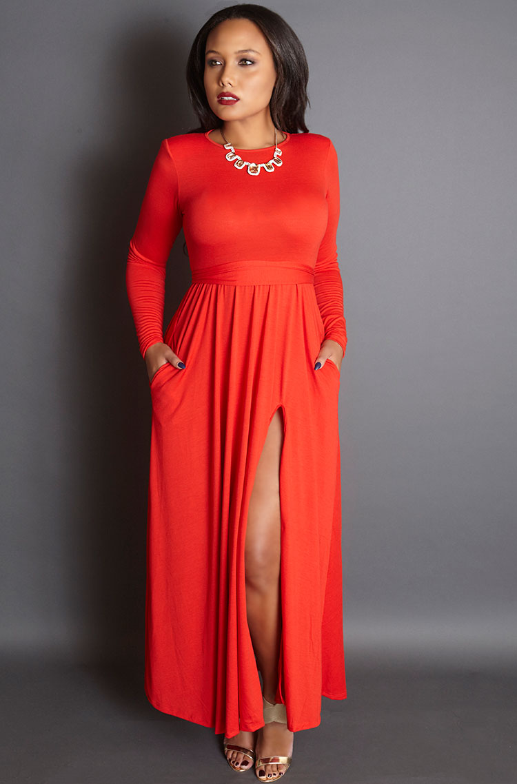 Unforgettable-red-gown-with-shoulder-pads-grisel-holiday-2015-collection