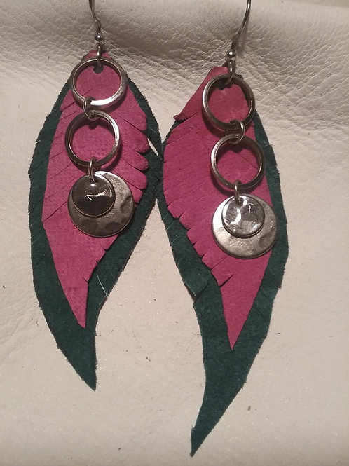 Leather Earring #19