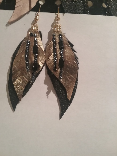 Leather Earring #10