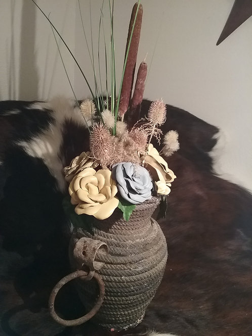rope vase with hardware #8