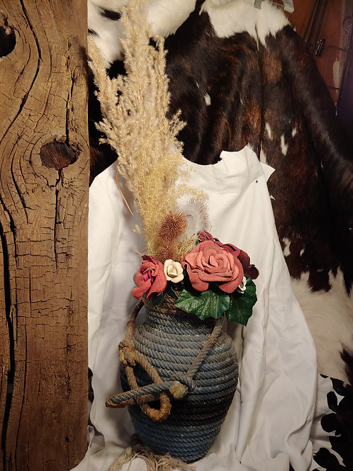 rope vase with burgundy roses #11