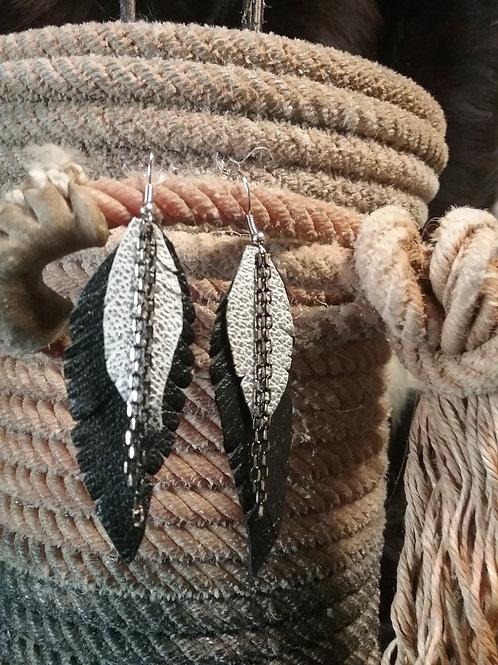 Leather Earrings #2