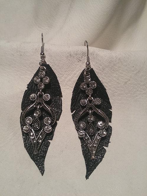 Leather earrings #12