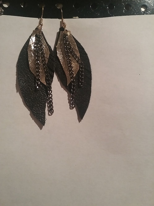 Leather Earrings #6
