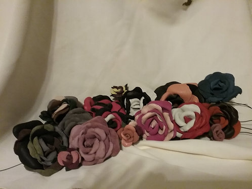 Leather Roses Large