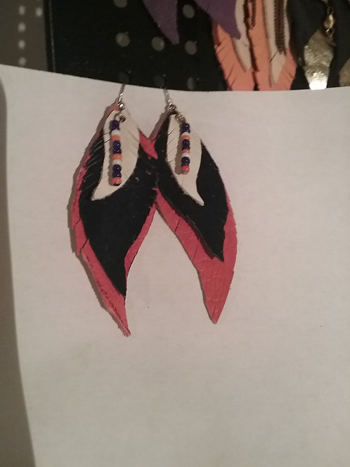 Leather Earring #3 (Bronco)