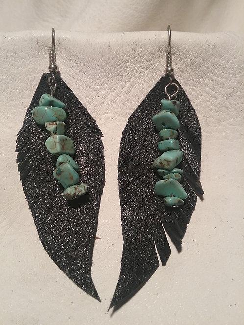 Leather earrings #8