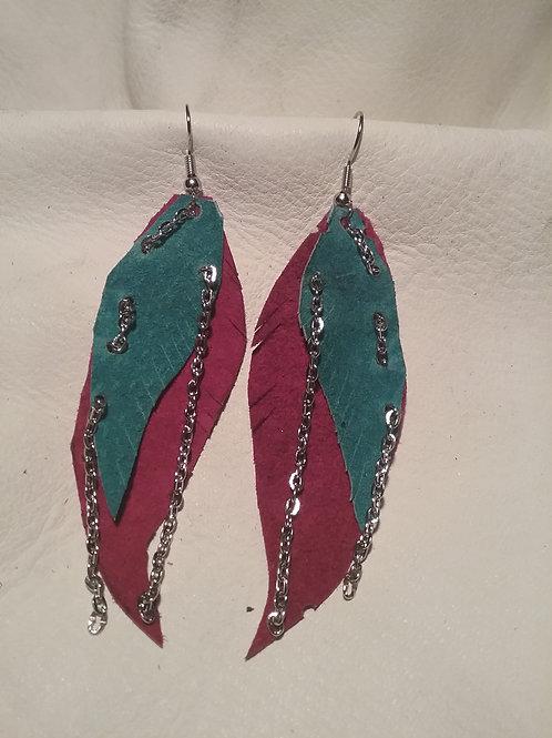 Leather earrings #20